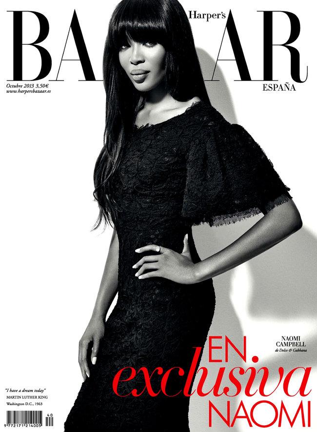 Роскошная Наоми Кэмпбелл снялась для «Harper's Bazaar Spain»
