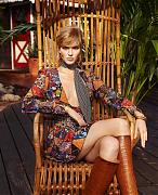 Саша Лусс в фотосессии для Harper's Bazaar США, март 2015