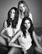 Эдита Вилкевичуте, Алессандра Амбросио и Кати Нешер в журнале Vogue Испания