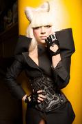 Леди Гага (Lady Gaga) в фотосессии для журнала Parlour (весна 2009).